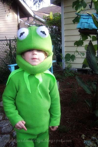 Kermit The Frog Costume DIY  Night Garden Blog hi ho kermit the frog here