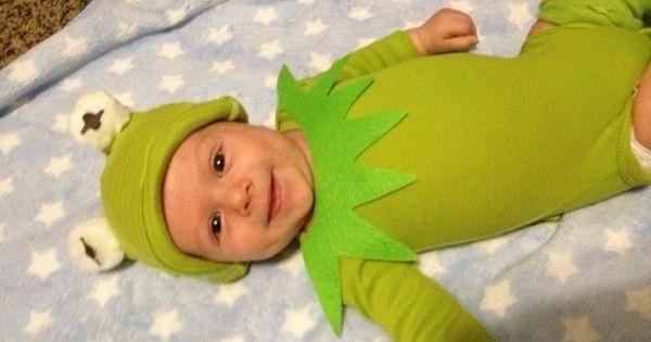 Kermit The Frog Costume DIY  Kermit the Frog Baby Costume