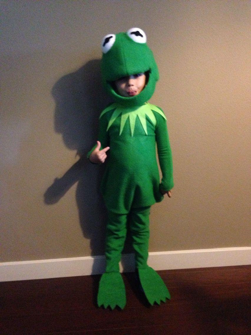 Kermit The Frog Costume DIY  Kermit the Frog costume Izzy in 2019