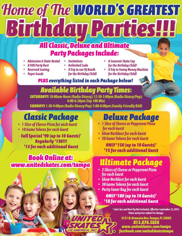 Kids Birthday Party Tampa  Kids Birthday Parties Tampa FL