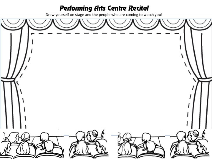 Kids Coloring Pages Performing Arts Boys  Stage Coloring Page