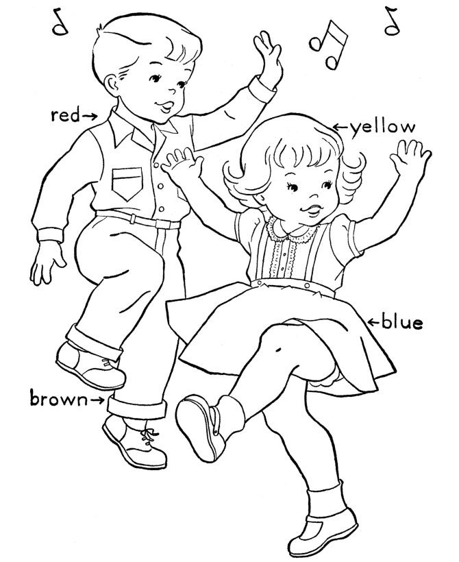 Kids Coloring Pages Performing Arts Boys  Birthday Coloring pages Birthday Party Dance