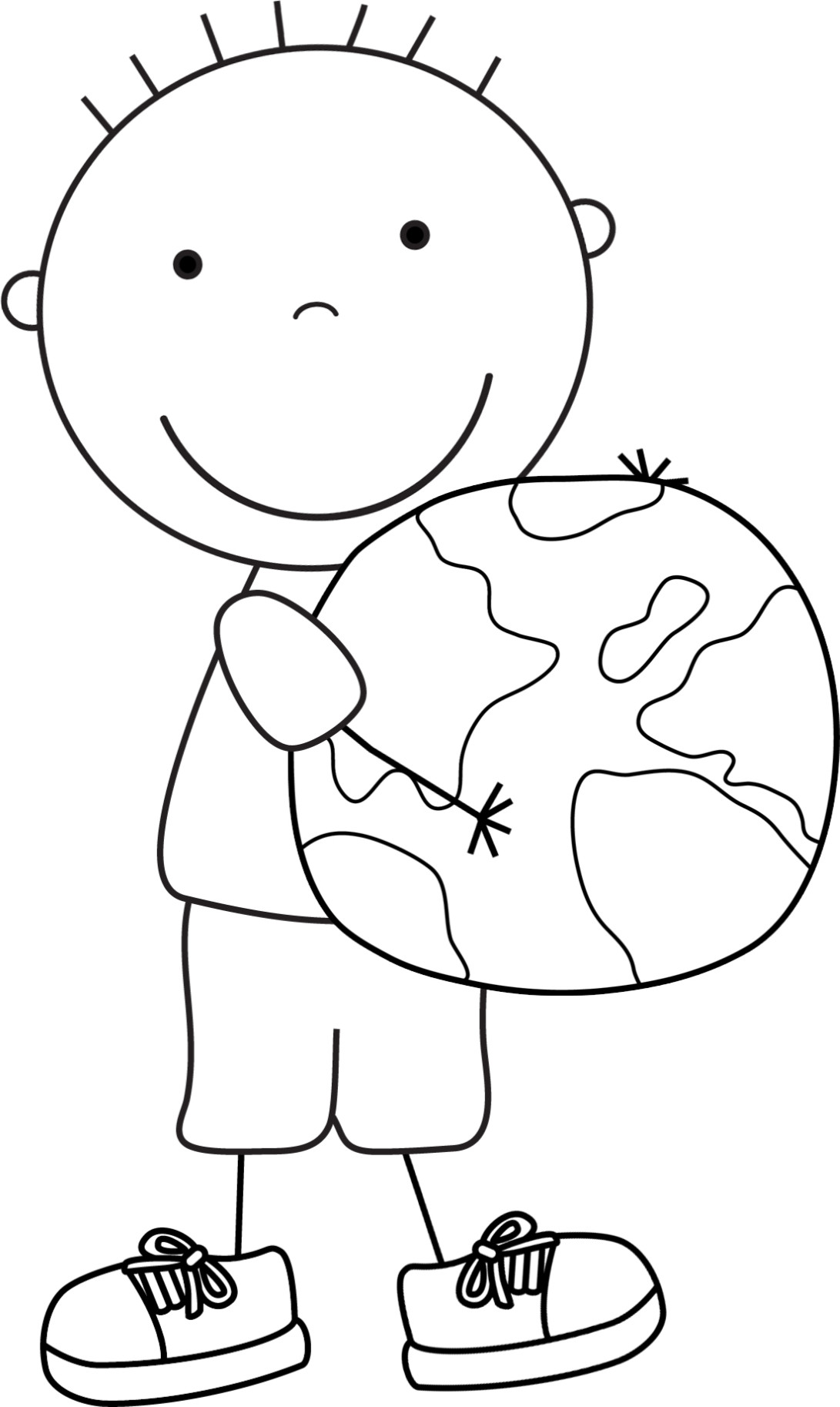 Kids Coloring Pages Performing Arts Boys  Color Pages for Kids Earth Day Boys