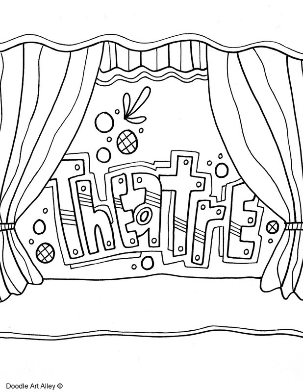 Kids Coloring Pages Performing Arts Boys  Subject Cover Pages Coloring Pages Classroom Doodles