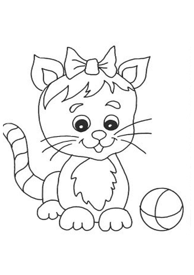 Kids Coloring Sheet  Free Printable Cat Coloring Pages For Kids