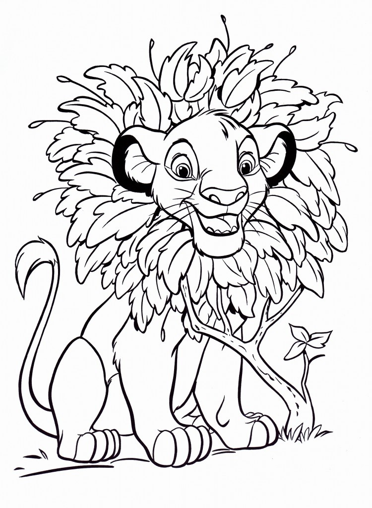 Kids Coloring Sheet  Free Printable Simba Coloring Pages For Kids