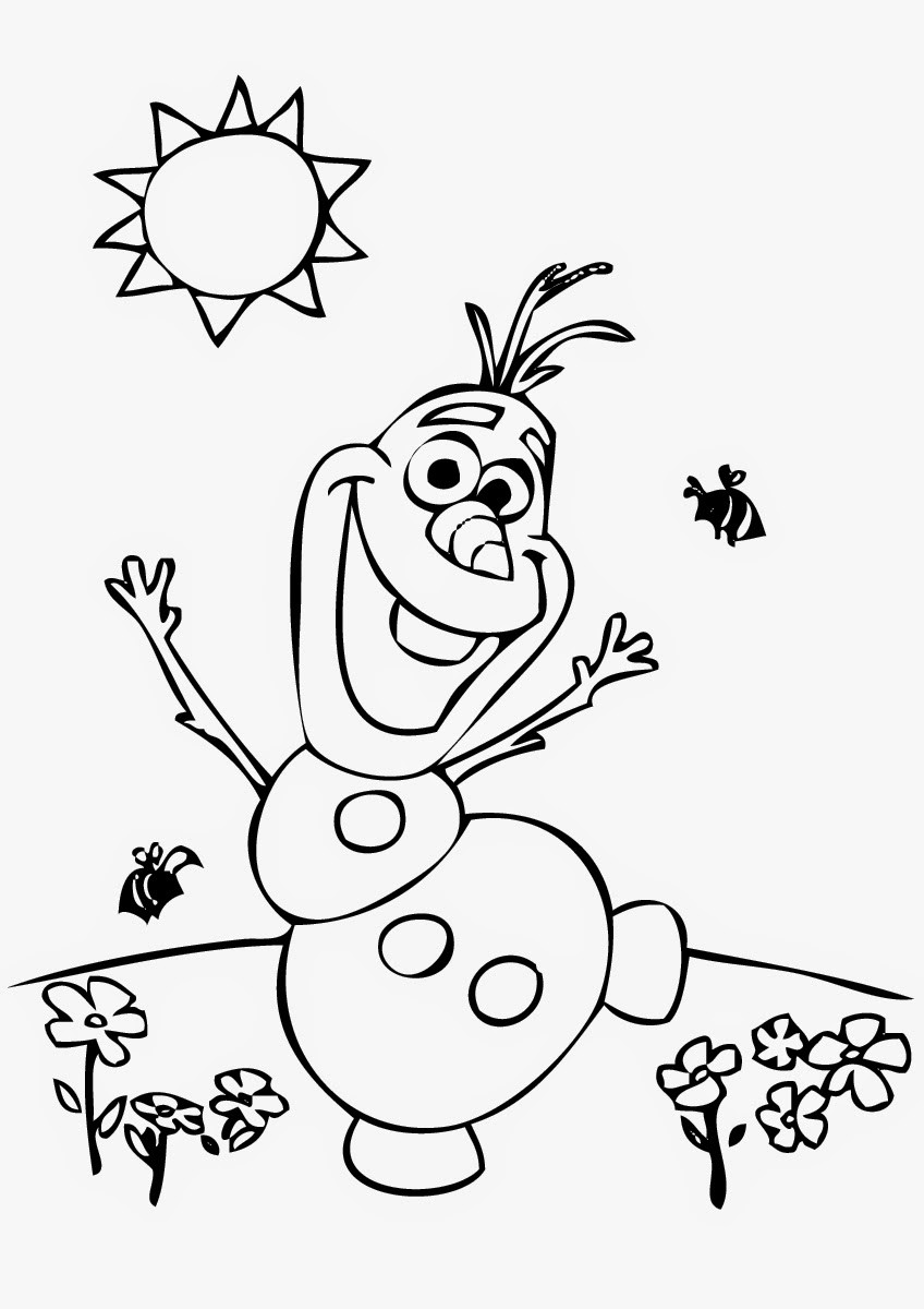 Kids Coloring Sheet  Frozens Olaf Coloring Pages Best Coloring Pages For Kids
