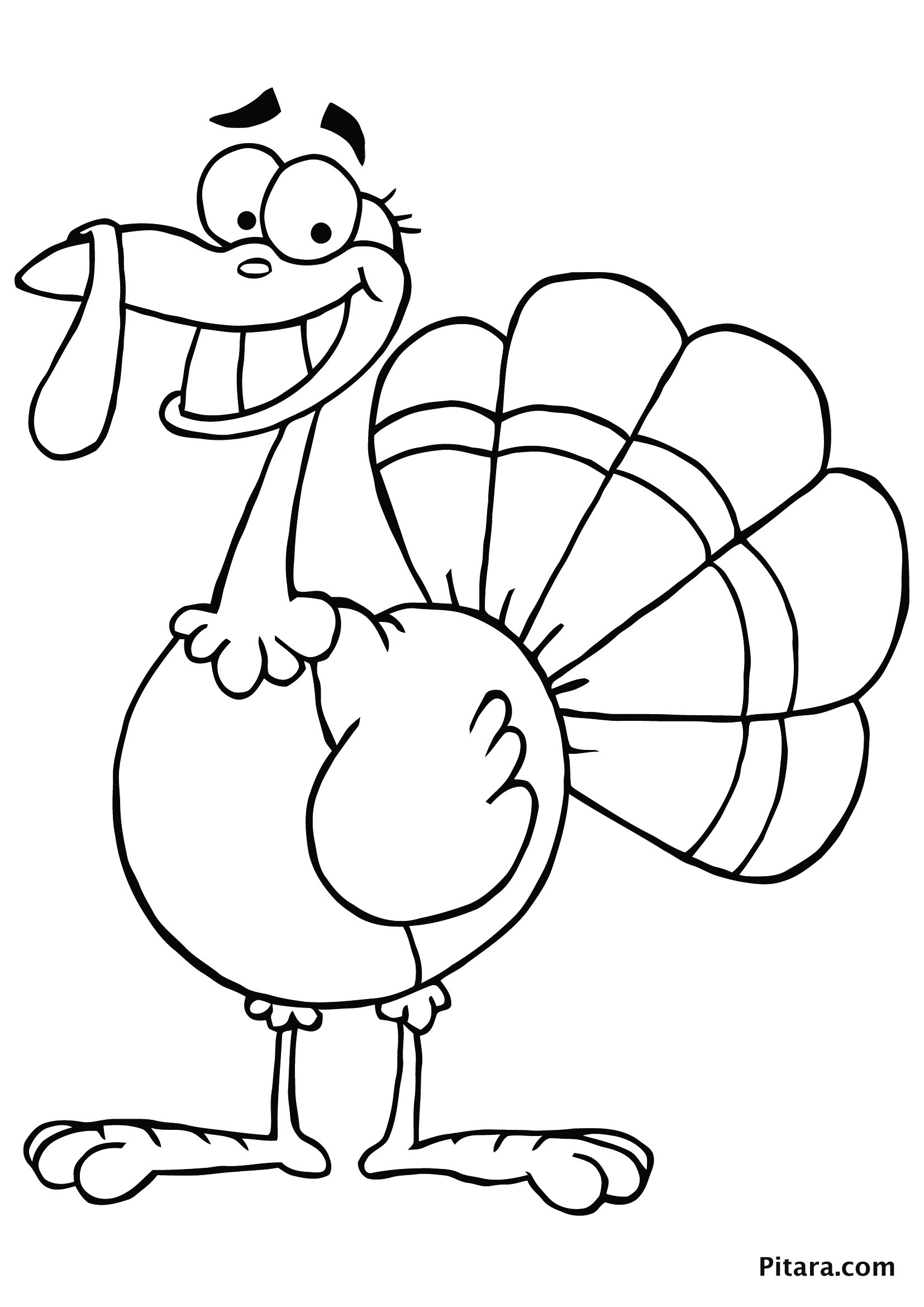 Kids Coloring Sheet  Turkey Coloring Pages for Kids