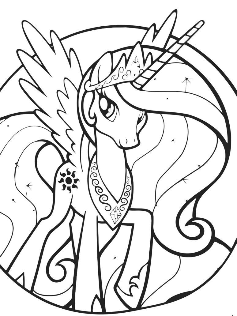 Kids Coloring Sheet  Princess Celestia Coloring Pages Best Coloring Pages For