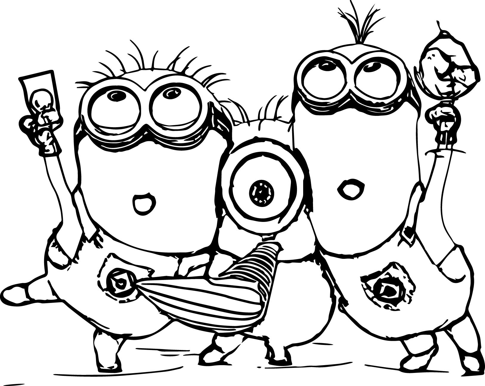Kids Coloring Sheet  Minion Coloring Pages Best Coloring Pages For Kids