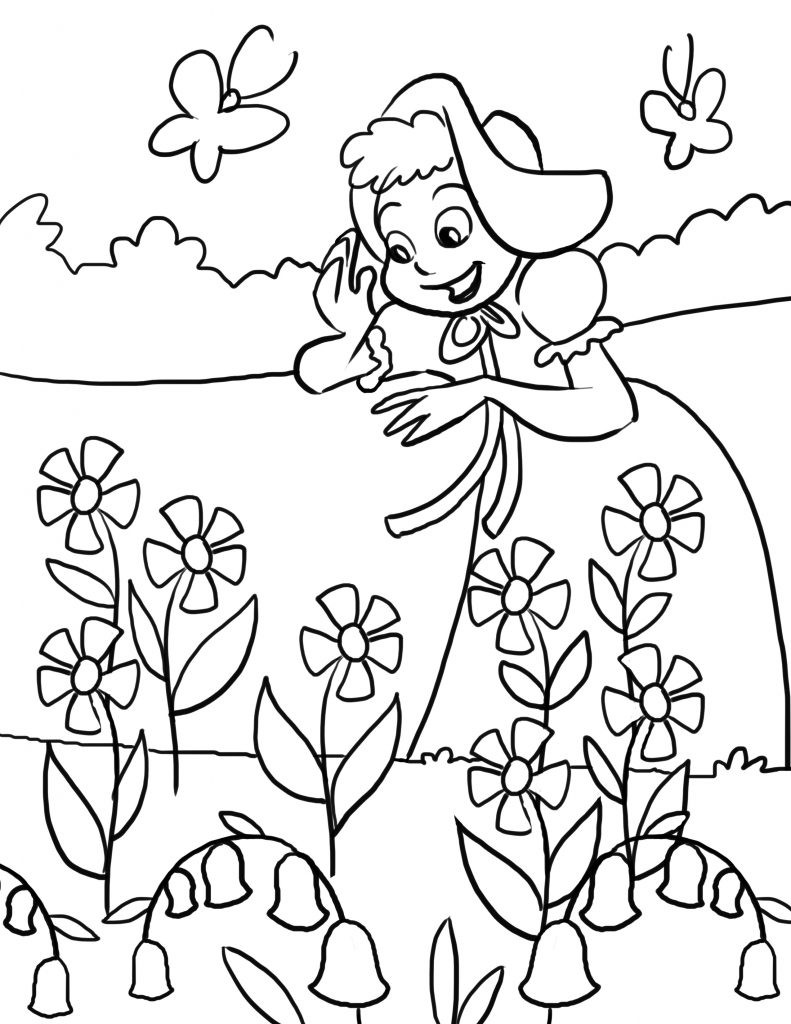 Kids Coloring Sheet  Free Printable Nursery Rhymes Coloring Pages For Kids