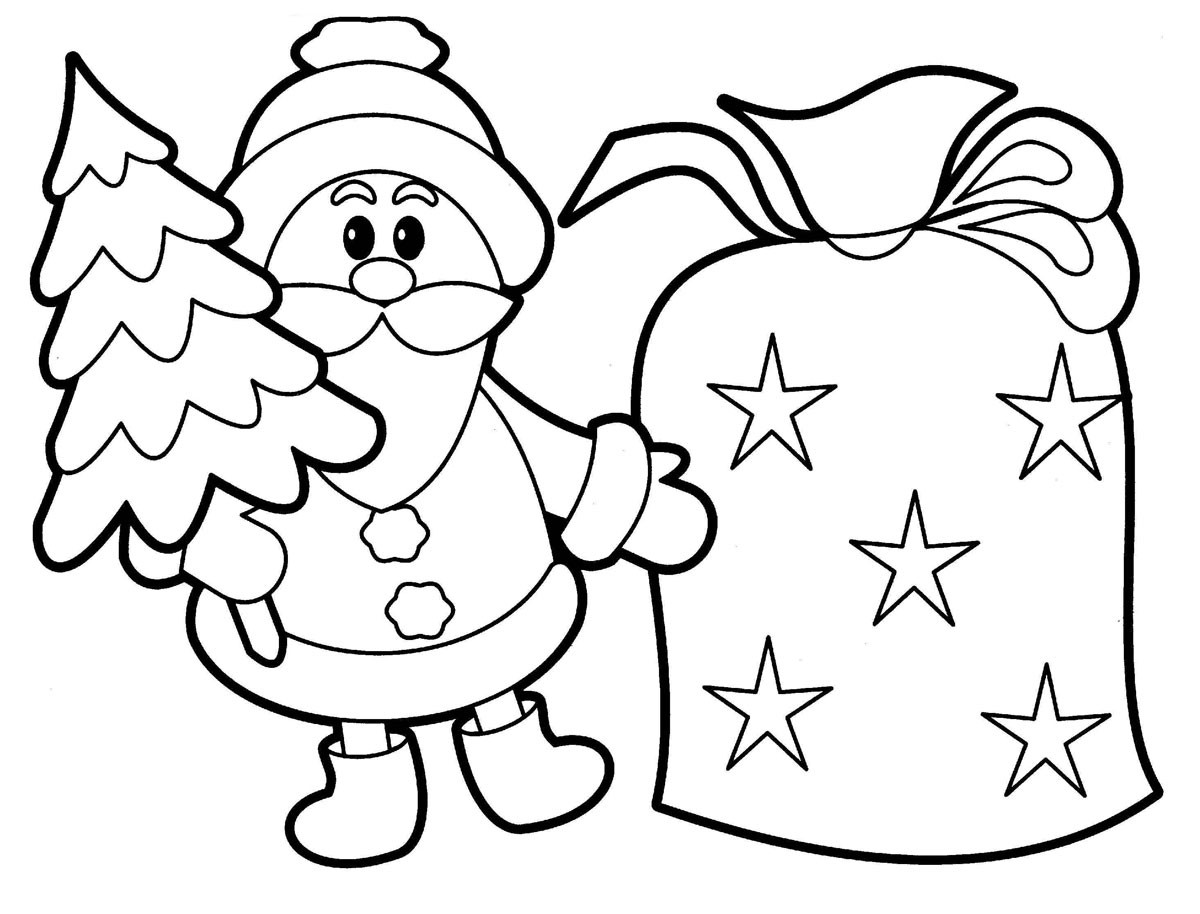 Kids Coloring Sheet  Free Printable Santa Claus Coloring Pages For Kids