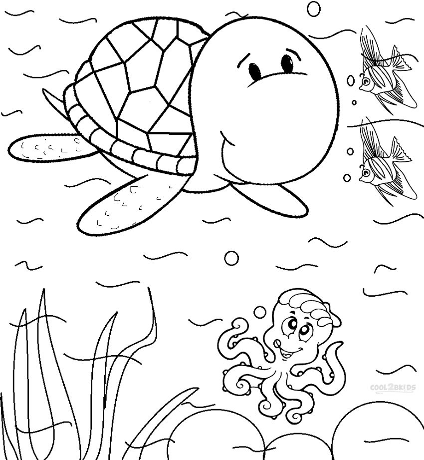 Kids Coloring Sheet  Printable Sea Turtle Coloring Pages For Kids