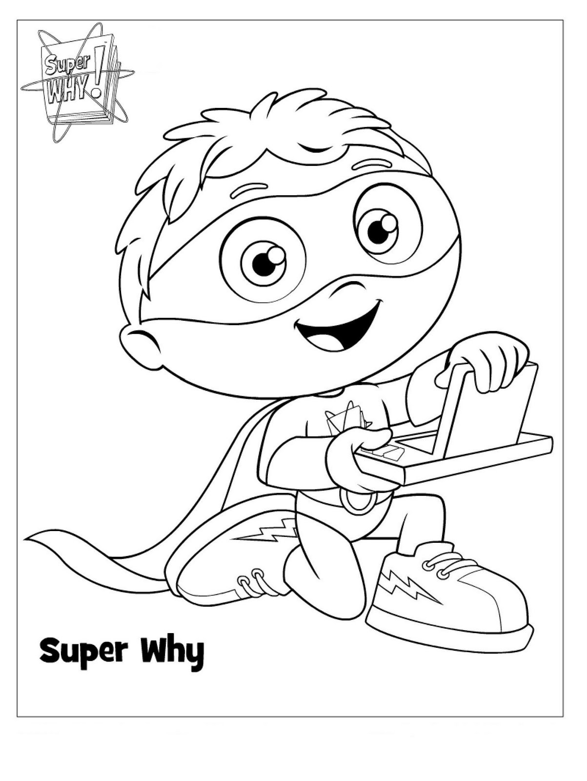 Kids Coloring Sheet  Super Why Coloring Pages Best Coloring Pages For Kids