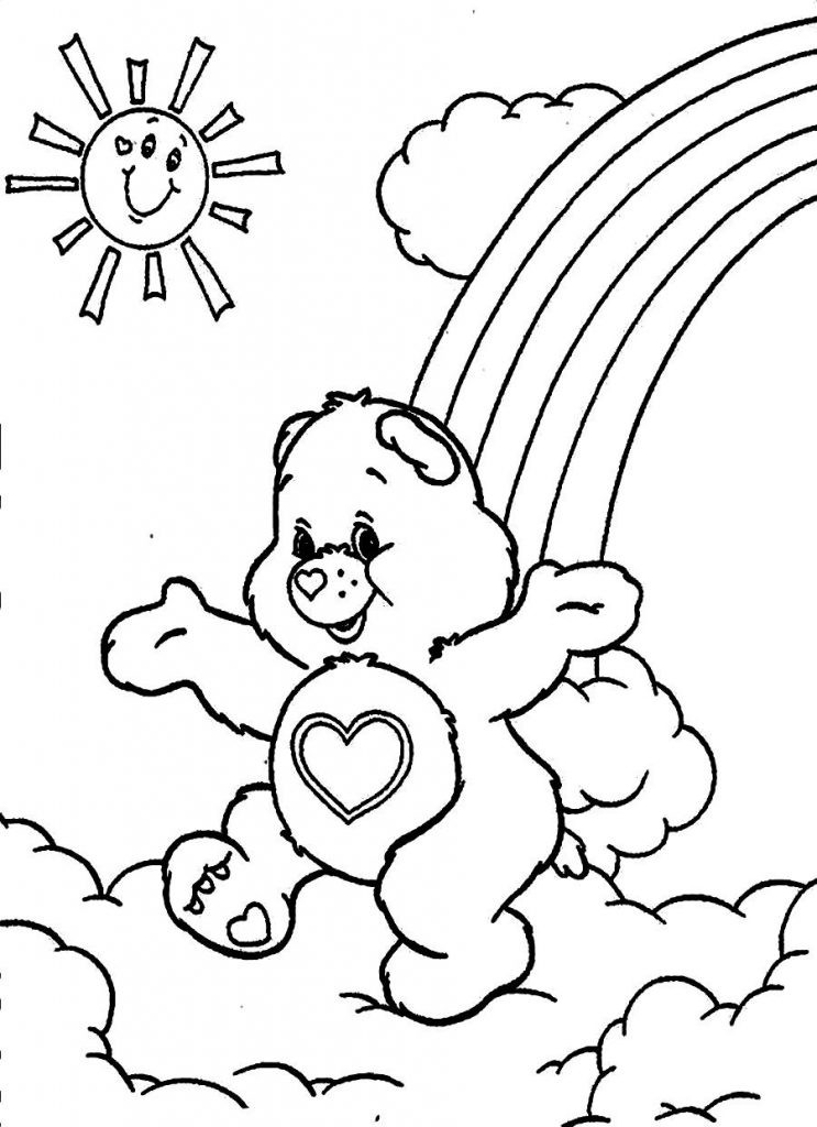 Kids Coloring Sheet  Free Printable Care Bear Coloring Pages For Kids
