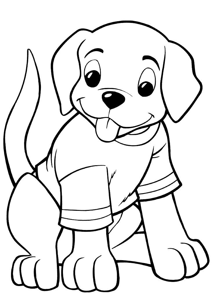 Kids Coloring Sheet  Puppy Coloring Pages Best Coloring Pages For Kids