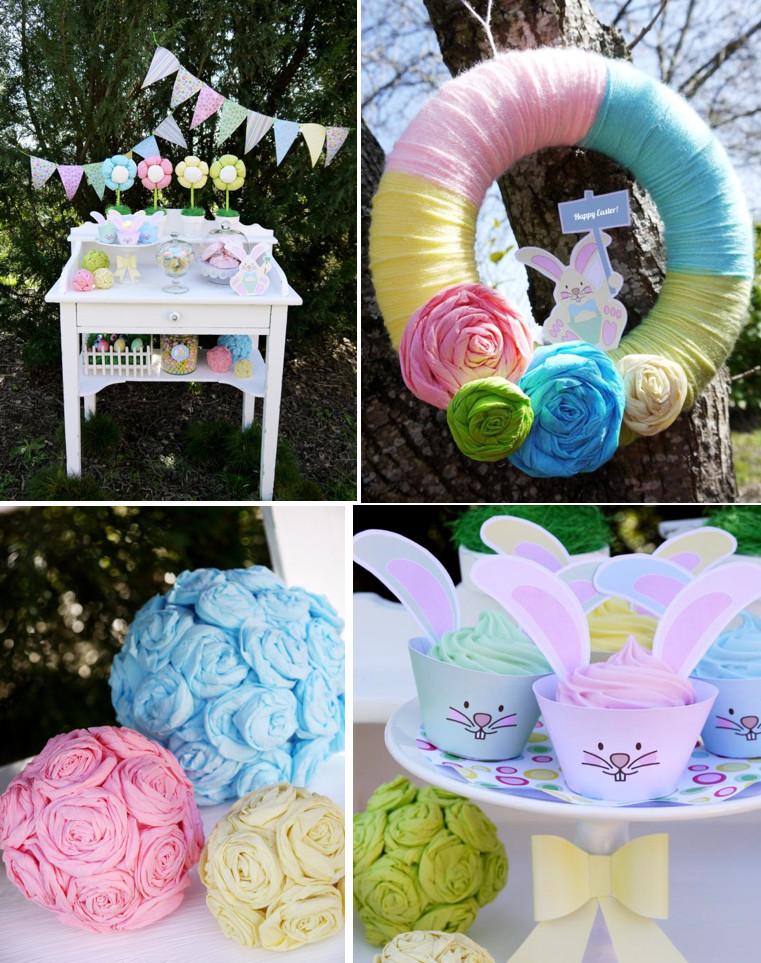 Kids Easter Birthday Party Ideas  Kara s Party Ideas Kids Pastel Easter Bunny Egg Hunt Boy