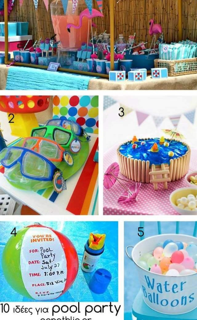 Kids Summer Pool Party Ideas  17 Best ideas about Kid Pool Parties on Pinterest