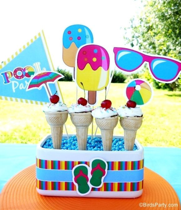Kids Summer Pool Party Ideas  Pool Party Ideas & Kids Summer Printables