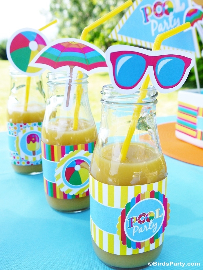 Kids Summer Pool Party Ideas  Pool Party Ideas & Kids Summer Printables Party Ideas