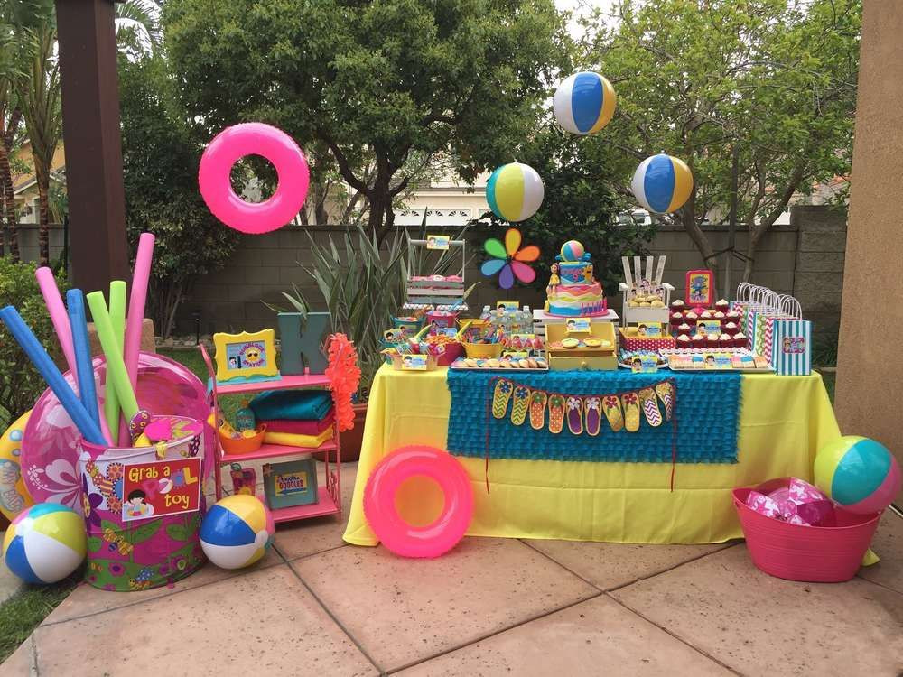 Kids Summer Pool Party Ideas  Swimming Pool Summer Party Summer Party Ideas