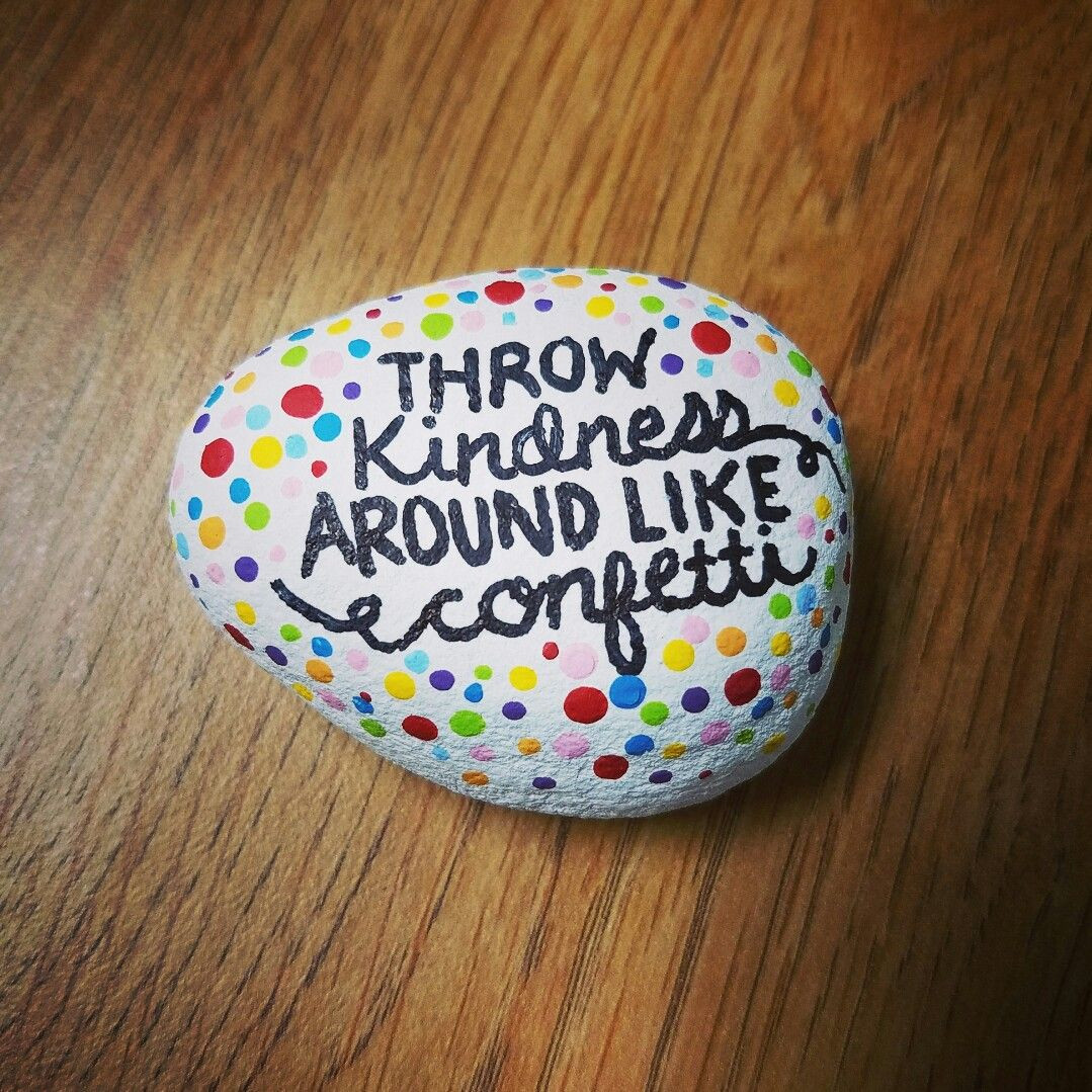 Kindness Rocks Quotes  Painted rock rock painting rock art painted stones