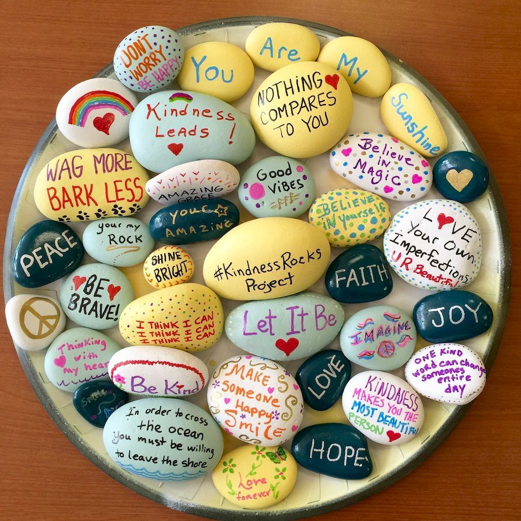 Kindness Rocks Quotes  Pin by Angela M Phillips on Angela art rock therapy