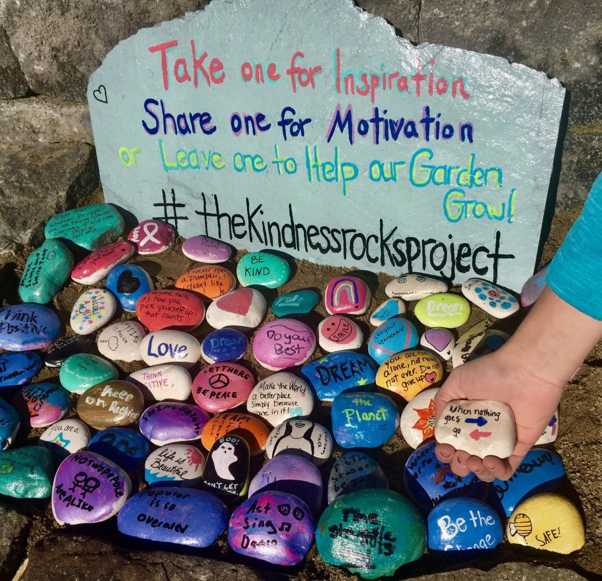 Kindness Rocks Quotes  HOMETOWN COLUMN Kindness Rocks at Hovey Pond