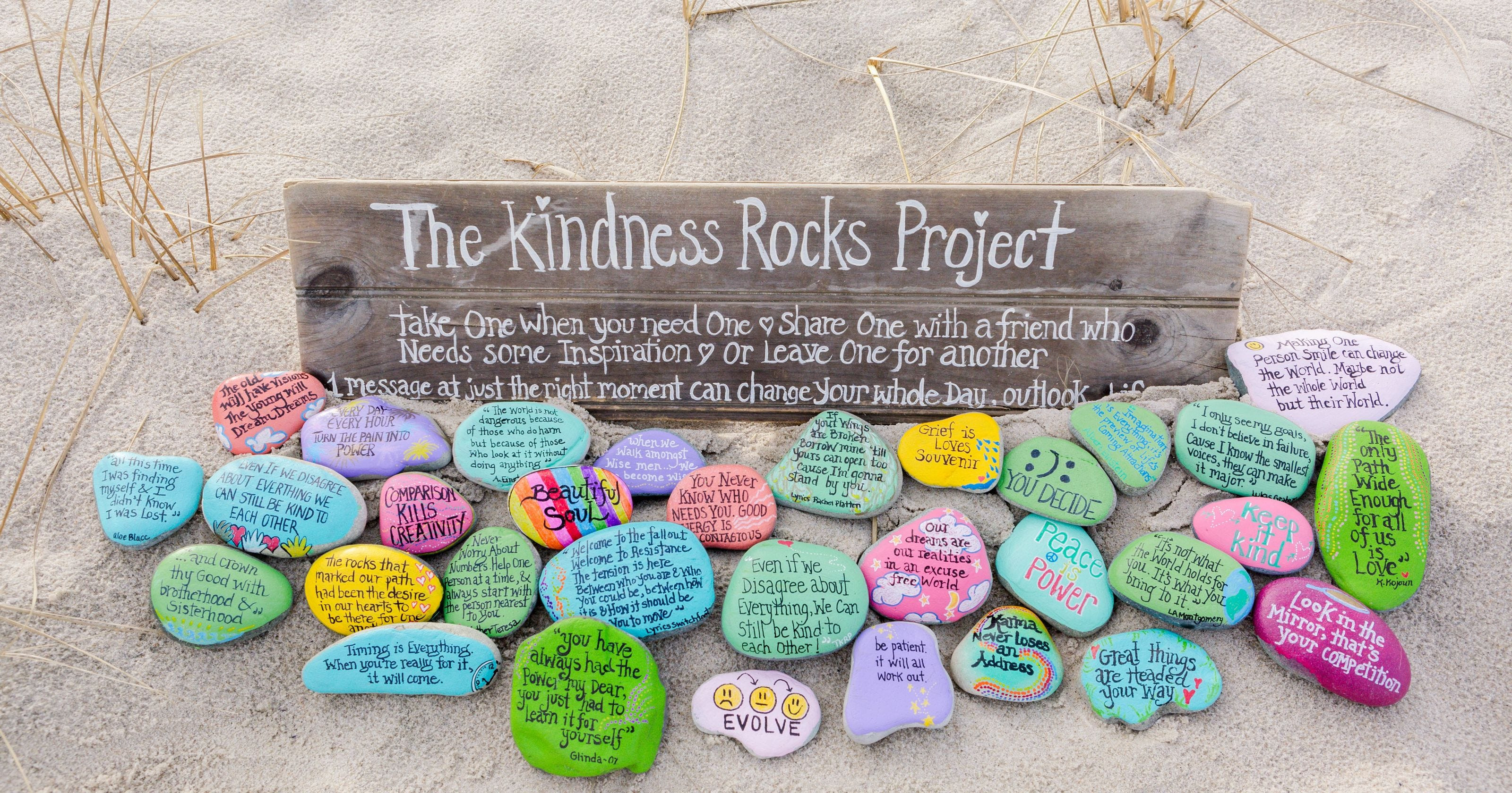 Kindness Rocks Quotes  It's not just a rock It's a project of kindness