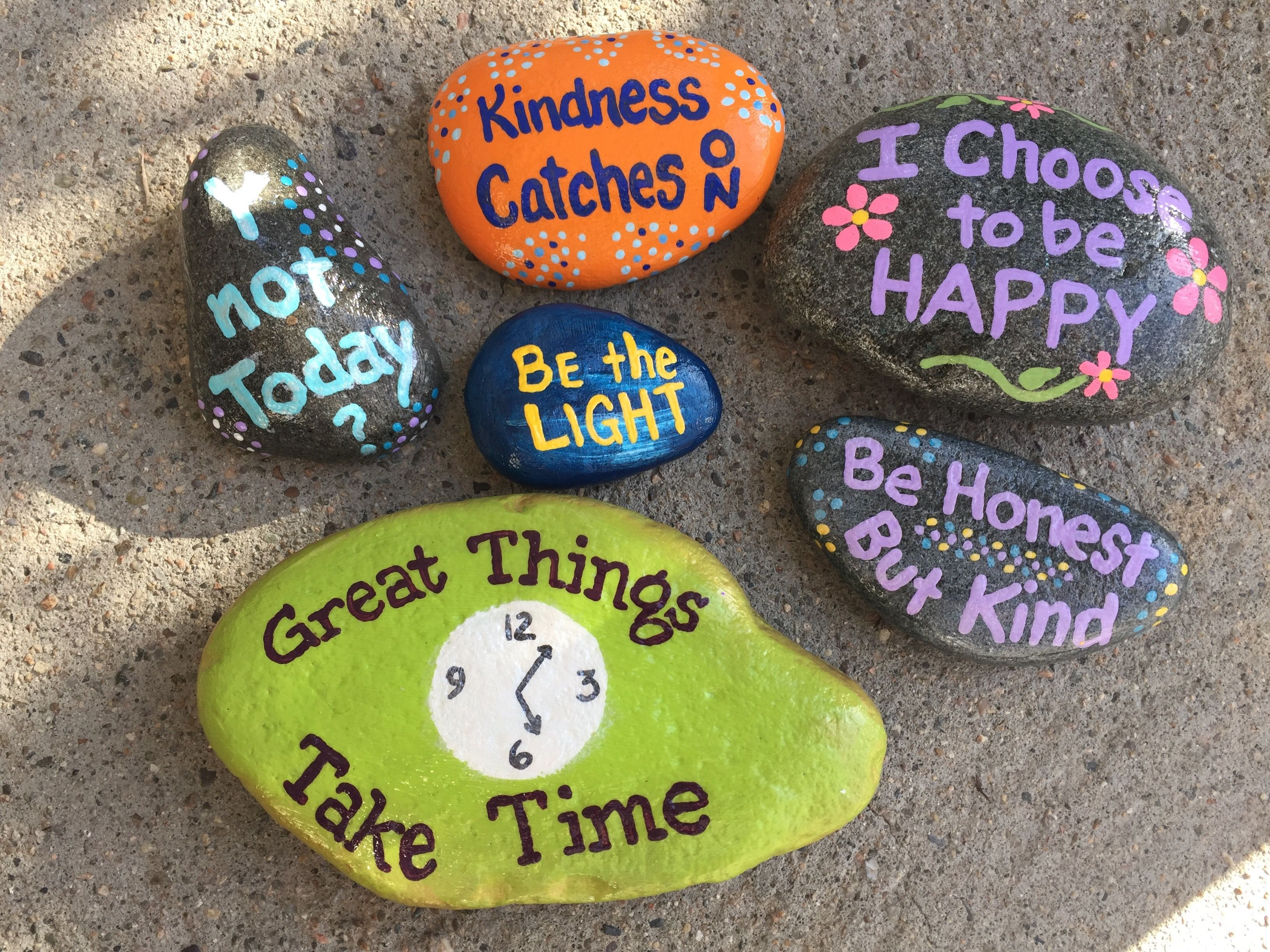 Kindness Rocks Quotes  Hand painted rocks by Caroline The Kindness Rocks Project
