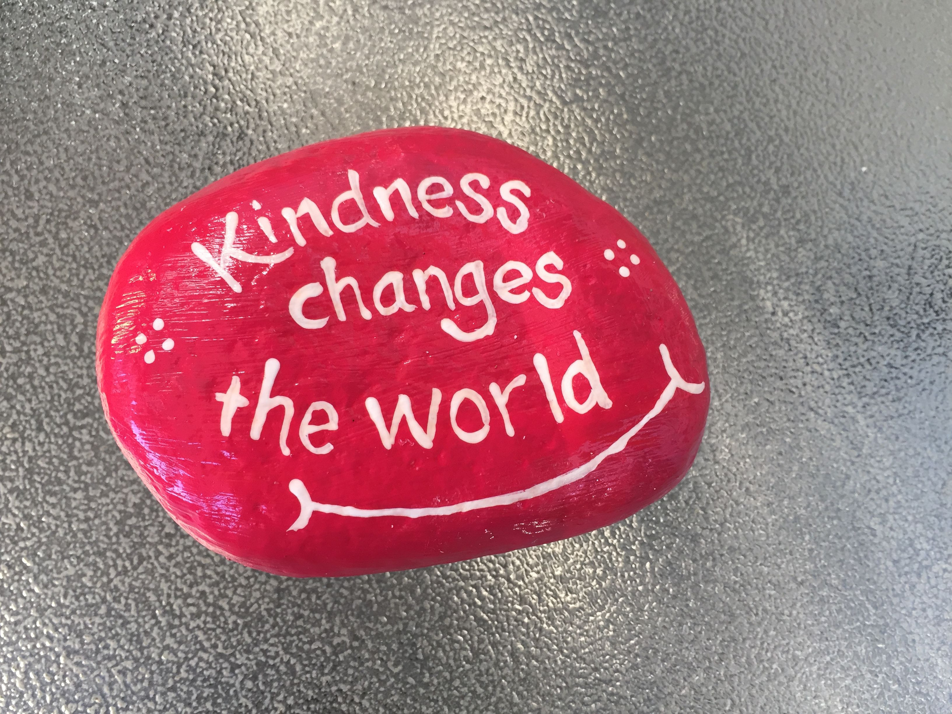 Kindness Rocks Quotes  Kindness changes the world Hand painted rock by Caroline