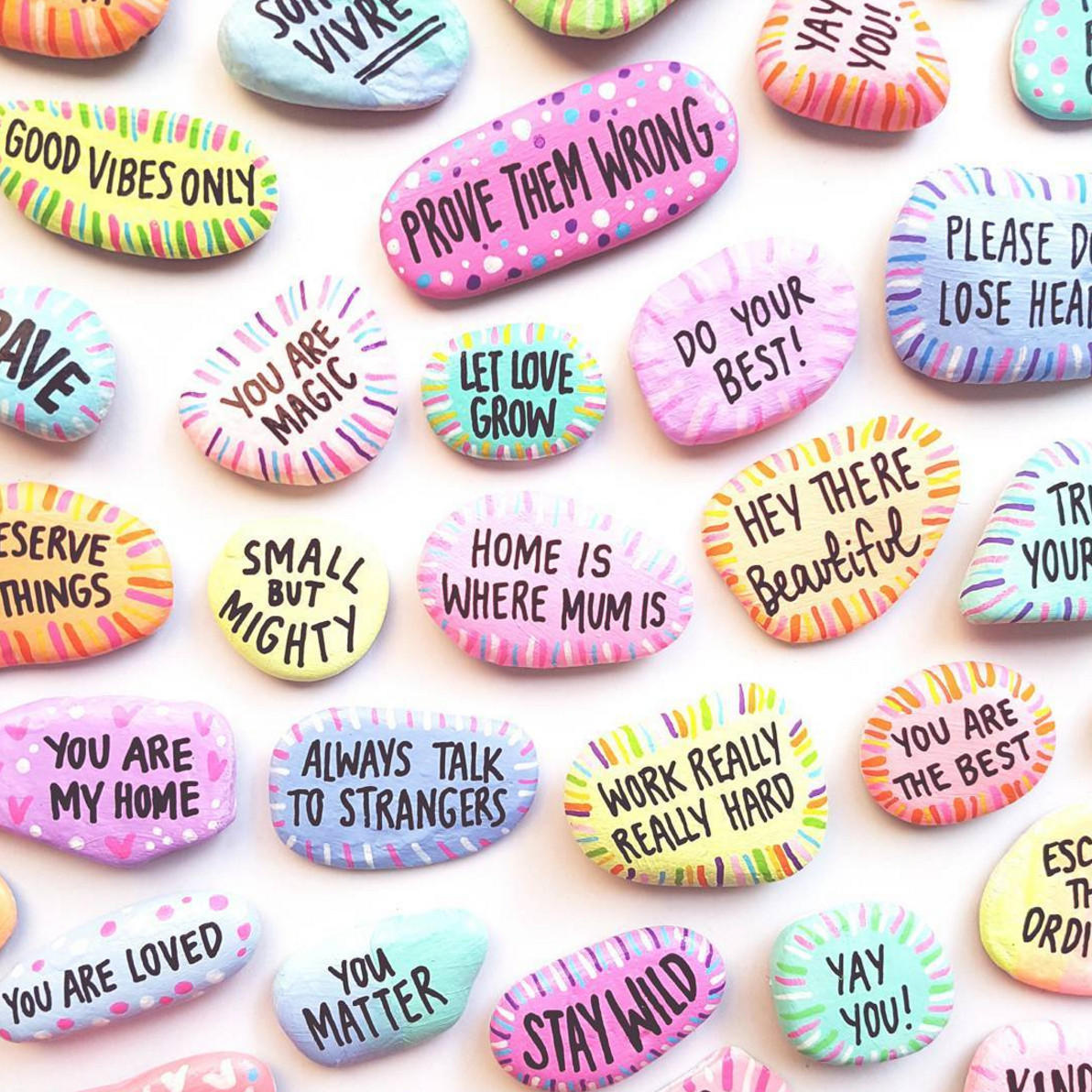 Kindness Rocks Quotes  Let s Chat Papered Thoughts Rock Art