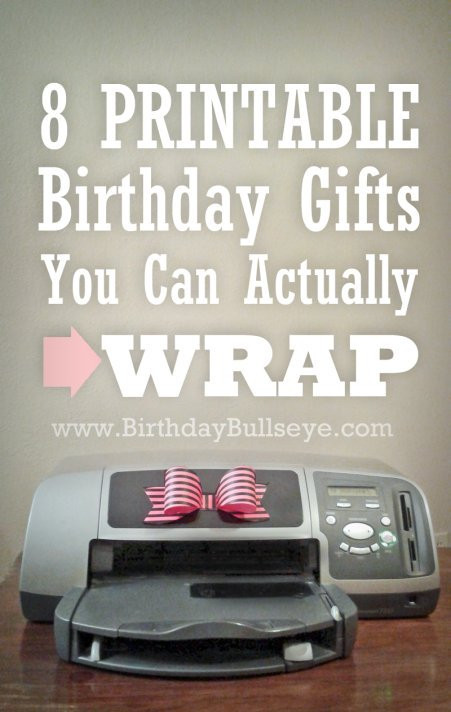 Last Minute Birthday Gifts For Wife  8 Printable Birthday Gifts You Can Actually Wrap