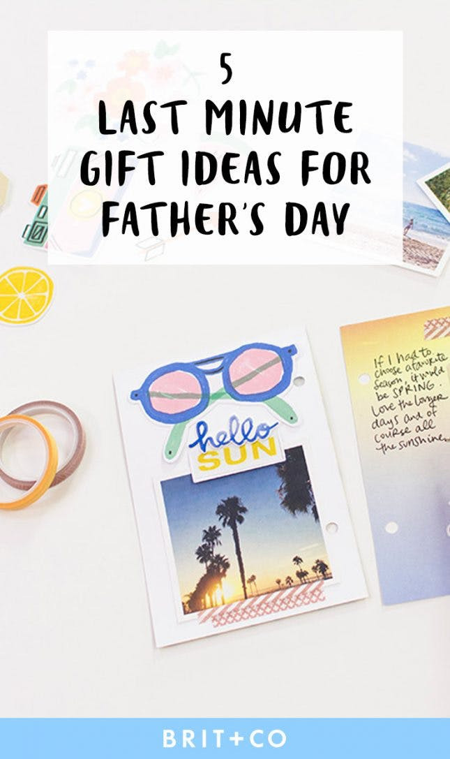 Last Minute Father'S Day Gift Ideas  5 Easy Last Minute Gift Ideas for Father's Day