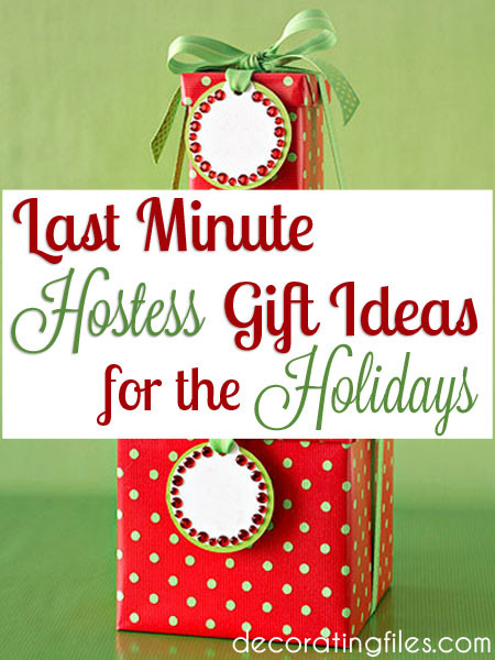 Last Minute Holiday Gift Ideas  Last Minute Hostess Gift Ideas for the Holidays