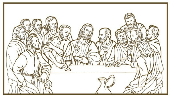 Last Supper Coloring Pages Printable  Last Supper Coloring Page