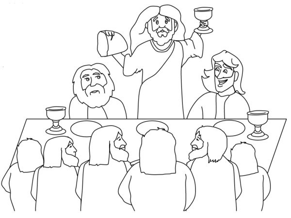 Last Supper Coloring Pages Printable  The Last Supper Coloring Page Coloring Home