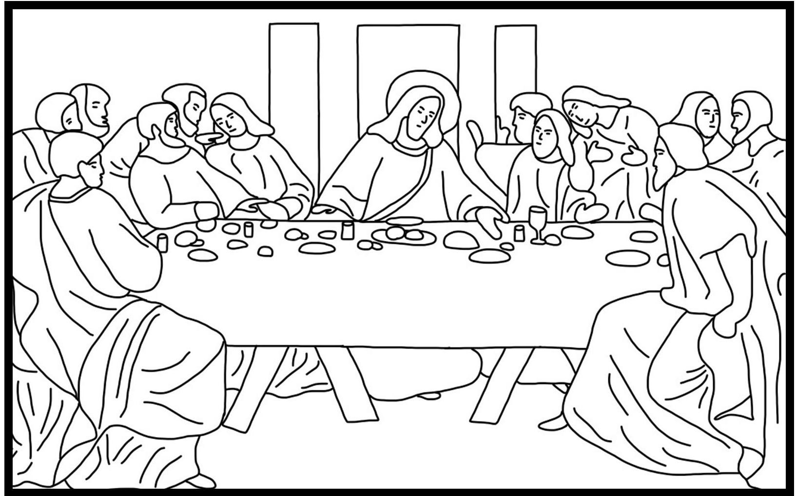 Last Supper Coloring Pages Printable  Lent Coloring Pages Best Coloring Pages For Kids