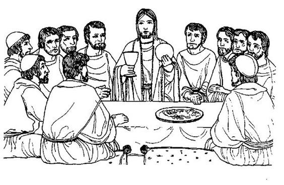Last Supper Coloring Pages Printable  printable coloring page of the last supper Google Search