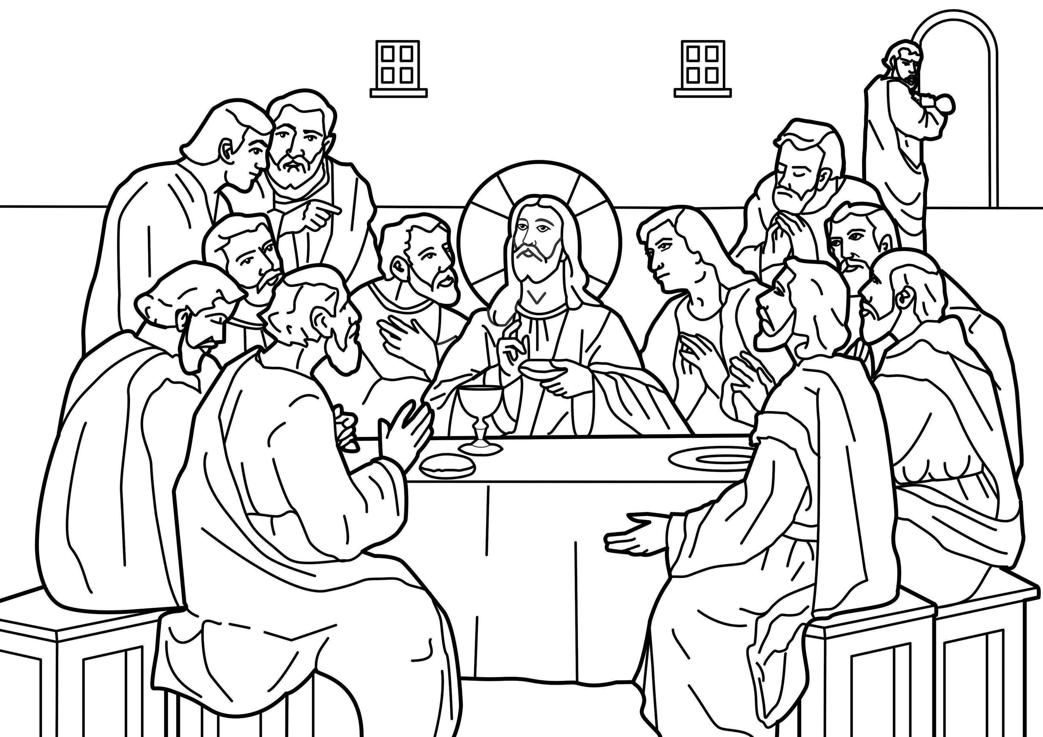 Last Supper Coloring Pages Printable  Garden Mary Dedicated to our Blessed Mother The