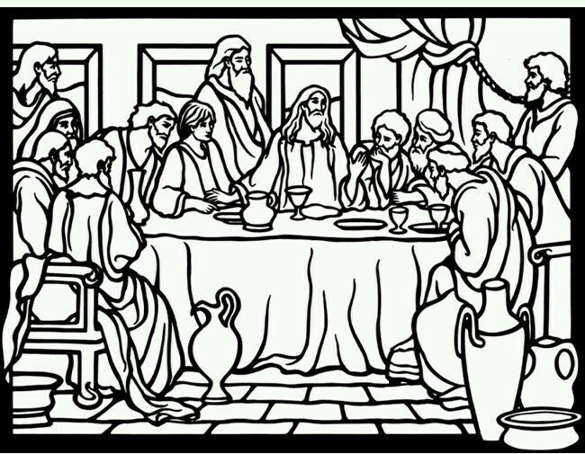 Last Supper Coloring Pages Printable  22 best THE LAST SUPPER images on Pinterest