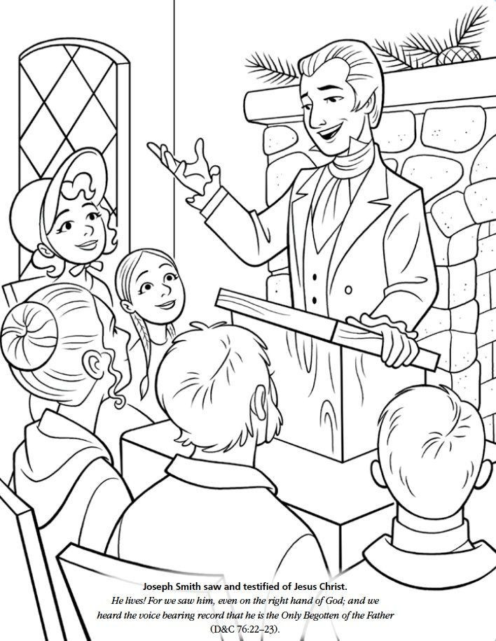 Lds Chruch Coloring Pages For Boys  Joseph Smith Coloring Page AZ Coloring Pages