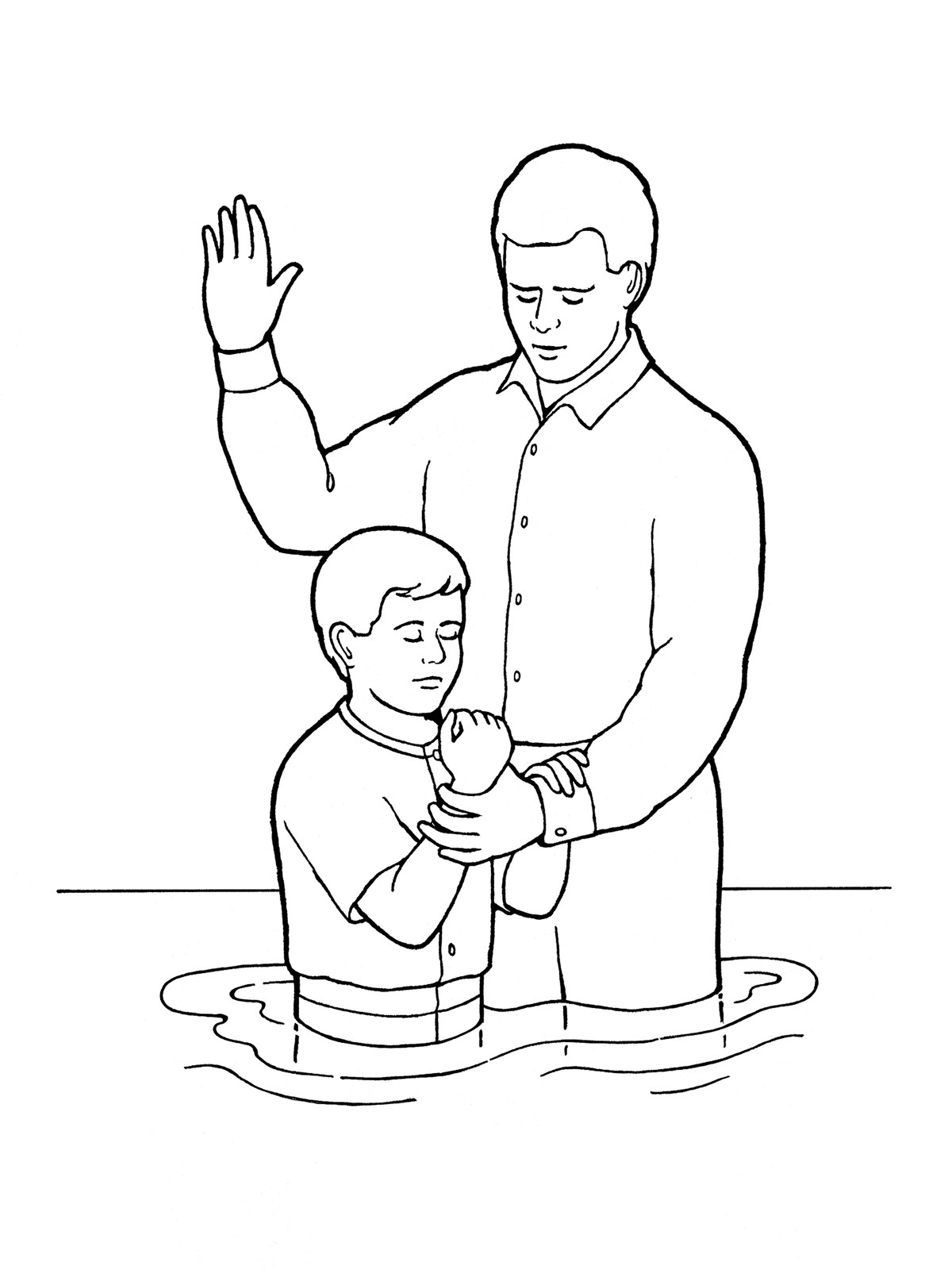 Lds Chruch Coloring Pages For Boys  Young Boy Baptism