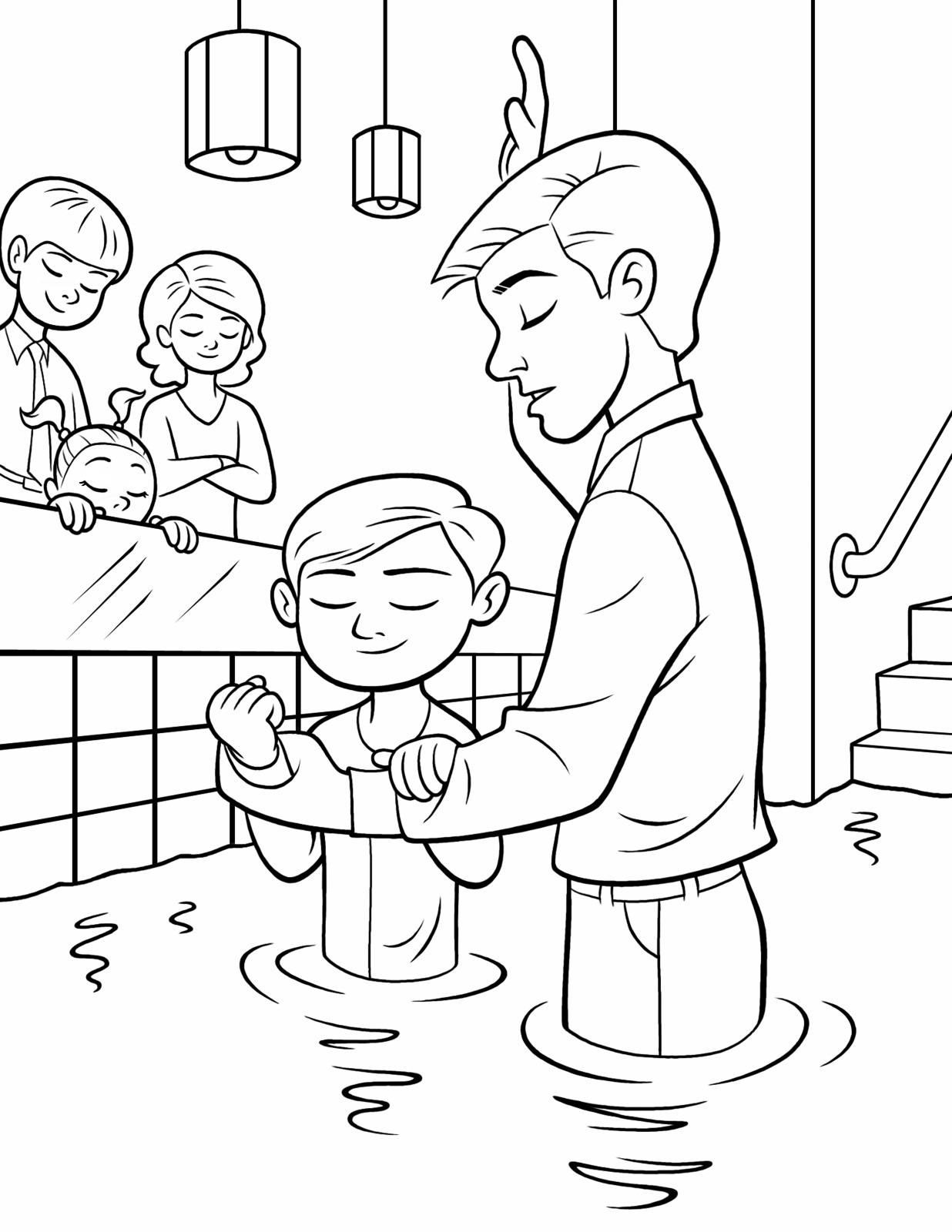 Lds Chruch Coloring Pages For Boys  Baptism