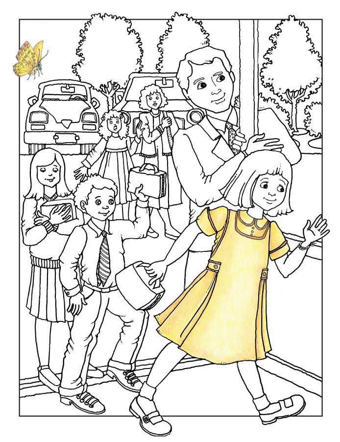 Lds Chruch Coloring Pages For Boys  Free People Singing In Church Download Free