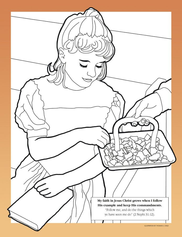 Lds Chruch Coloring Pages For Boys  10 mandments Lds Coloring Page AZ Coloring Pages