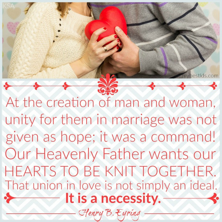 Lds Marriage Quotes  The Best Quotes from the Marriage and Family Relations