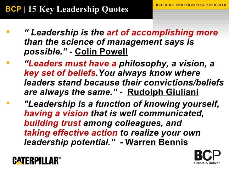 Leadership Philosophy Quotes  pleted Staff Work M J H