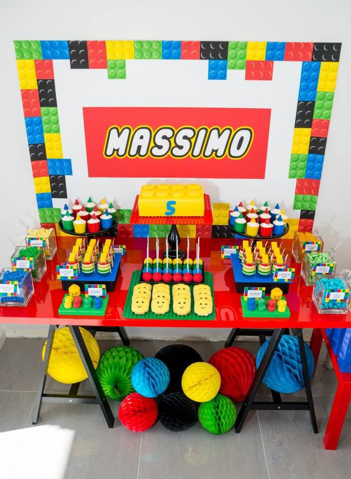 Lego Birthday Party Kit  lego birthday party dessert table Birthday Ideas