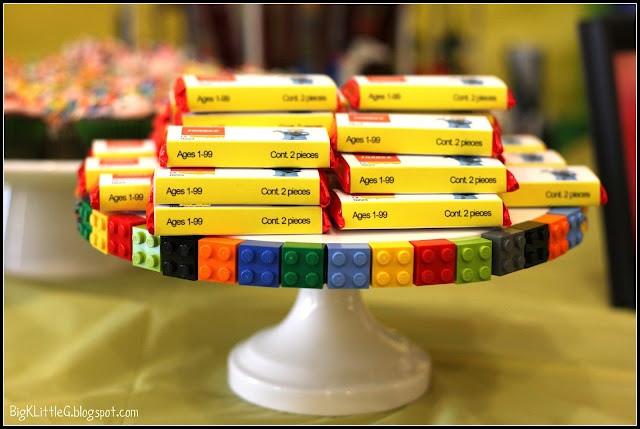Lego Birthday Party Kit  Lego Birthday Party Kit Kat Party Favor